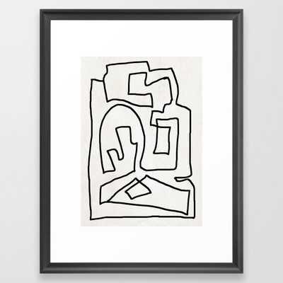 Abstract line art Framed Art Print - Society6