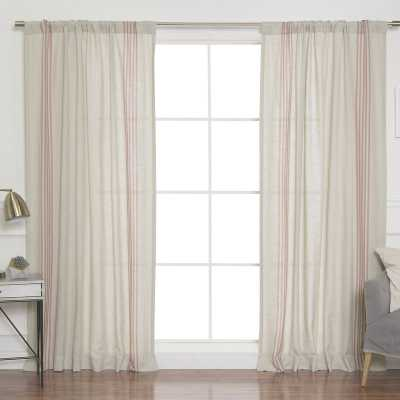 Bateman Striped Sheer Rod Pocket Curtain Panels - Wayfair