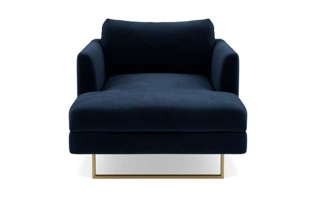 Owens Chaise - Navy Blue Velvet - Interior Define