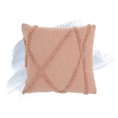 """Remi Cotton Textured Striped 18"""" Throw Pillow - Wayfair"""