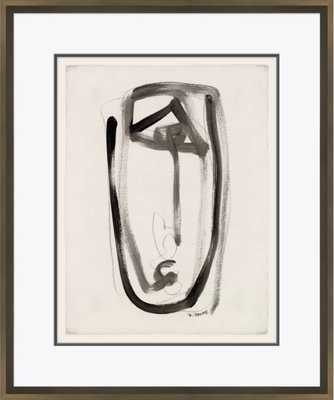 'Abstracts in Black and White' - Picture Frame Print on Paper - Perigold