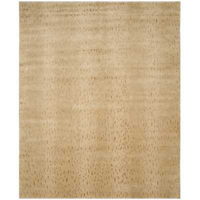 Tibetan Hand-Knotted Wool/Cotton Light Beige Area Rug - Perigold