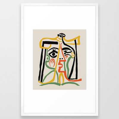 Picasso - Woman's head #1 Framed Art Print - Society6
