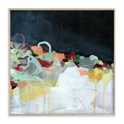 abstract landscape (dark) - 44x44 - matte brass frame - Minted