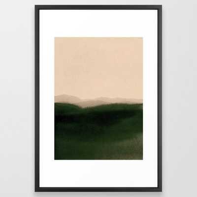 green hills Framed Art Print - Society6