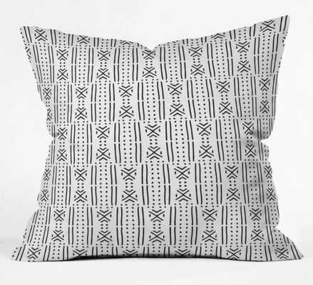 THROW PILLOW MUDCLOTH WHITE  BY HOLLI ZOLLINGER - Wander Print Co.