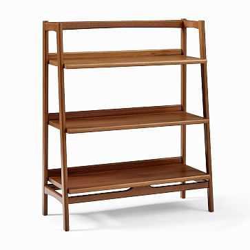 Mid Century Bookshelf - Low Wide, Acorn Finish, (individual) - West Elm