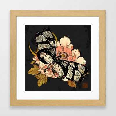 Glasswing Butterfly Framed Art Print - Society6