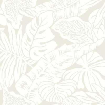 "Off White Holden Valdivian 33' L x 20.5"" W Wallpaper Roll - Wayfair"