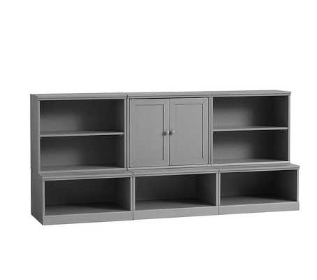 Cameron 1 Cabinet, 2 Bookcase Cubbies, & 3 Open Bases, Charcoal, UPS - Pottery Barn Kids