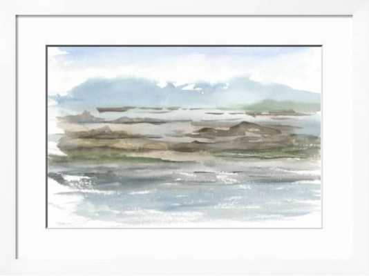 "Impressionist View II - 36x24"" framed print, gramercy white - art.com"