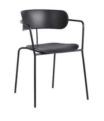 SAMMIE STACKING CHAIRS, BLACK (SET OF 4) - Lulu and Georgia