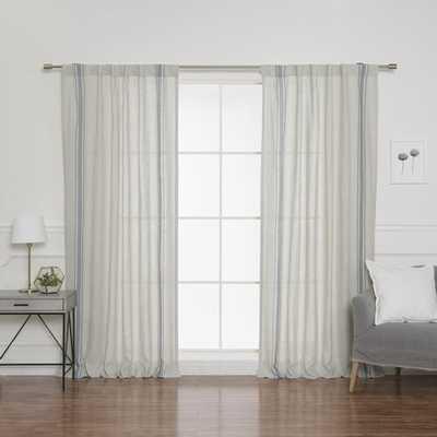 Nahunta Linen Room Darkening Rod Pocket Curtain Panels - Set of 2 - Wayfair