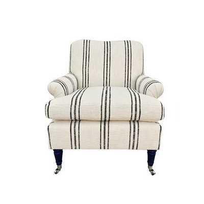 Paige Chair, Bowen Stripe - One Kings Lane