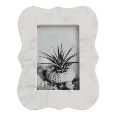 Beveled White Marble Frame - World Market/Cost Plus