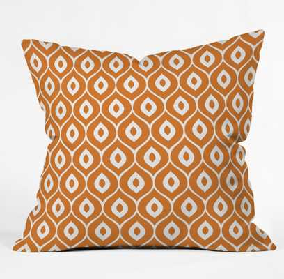 LEELA ORANGE Pillow 20 x 20 - Wander Print Co.