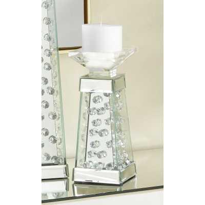 Sparkle Crystal Wood Candlestick - Wayfair