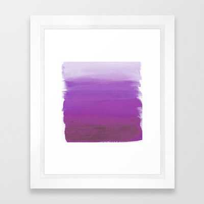 Purples No. 1 Framed Art Print - Society6