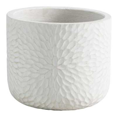 White Embossed Cement Mariela Outdoor Patio Planter - Small by World Market Small - World Market/Cost Plus