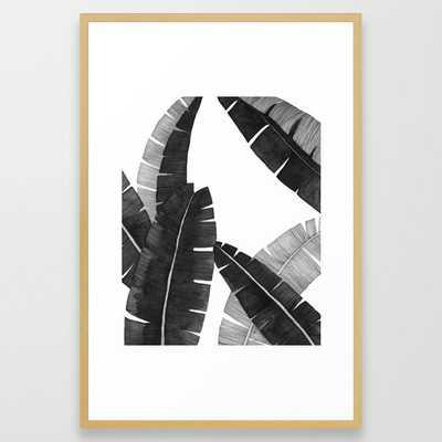 Banana Leaves BW Framed Art Print - Society6