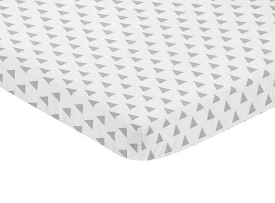 Earth and Sky Triangle Print Fitted Mini Crib Sheet - Wayfair