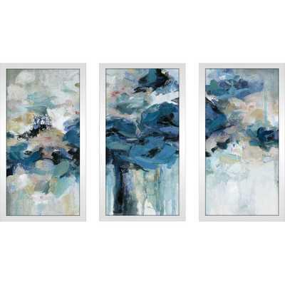 'Midnight Splash' Acrylic Painting Print Multi-Piece Image in Blue - Wayfair