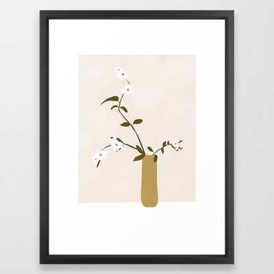 Flowers in the Vase Framed Art Print - 20x26, vector black frame - Society6