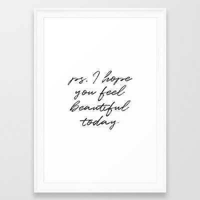 Beauty Quote Framed Art Print - Society6