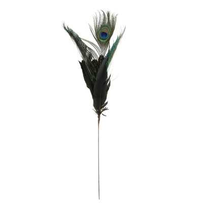 Christmas Peacock Feather Pick - Wayfair