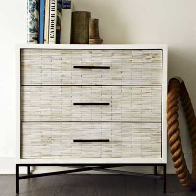 Wood Tiled 3-Drawer Dresser - West Elm