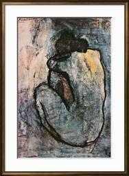 """Blue Nude, c.1902,  24"""" x 36"""", Urbane Antique Gold Frame - art.com"""