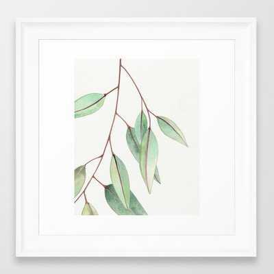 Eucalyptus Leaves One Framed Art Print - Society6