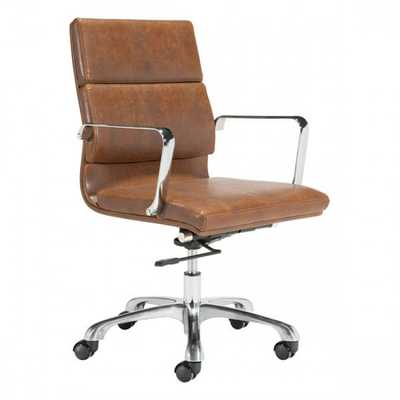 Ithaca Office Chair Vintage Brown - Zuri Studios