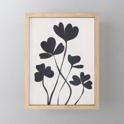 Clover Line Framed Mini Art Print - Society6