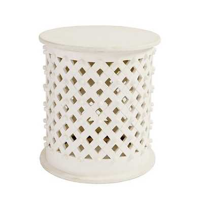 Bornova Side Table - Antique White - Ballard Designs