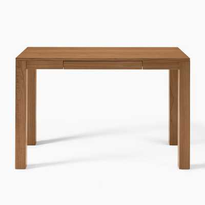 Parsons Desk With Drawers, Cool Walnut - West Elm