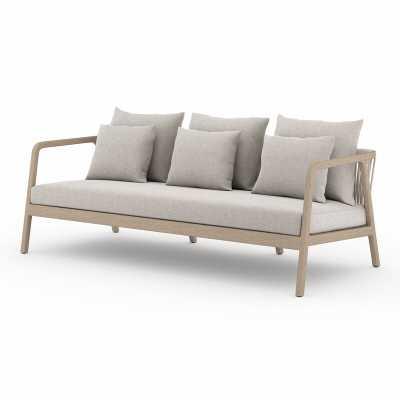 Numa Outdoor Teak Patio Sofa with Cushions - Perigold