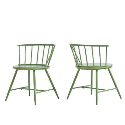 Vecchia Metal Slat Back Side Chair (Set of 2) - Wayfair