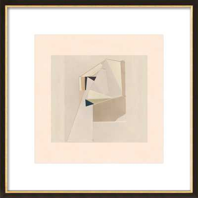 ABSTRACT COMPOSITION 2 - 16 x 16 - Black w/ Gold Frame - Artfully Walls