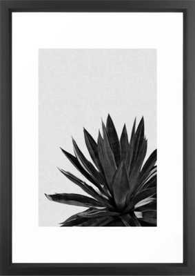 Agave Cactus Black & White Framed Art Print - Society6