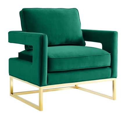 Aubrey Green Velvet Chair - Maren Home
