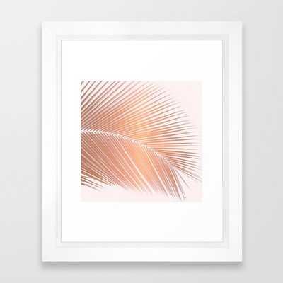 Palm leaf - copper pink Framed Art Print - Society6