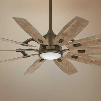 "65"" Minka Aire Barn Heirloom Bronze LED Ceiling Fan - Lamps Plus"