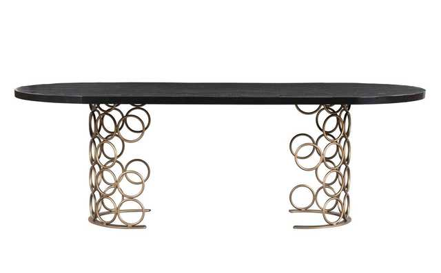 Harlow Brass Dining Table - Maren Home