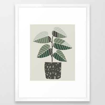 Indoor Pot Plant - Vector White - Society6