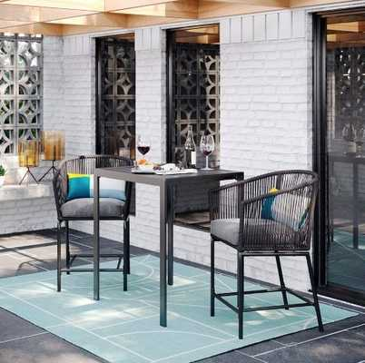Standish 3pc Patio Bar Height Set - Charcoal - Project 62™ - Target