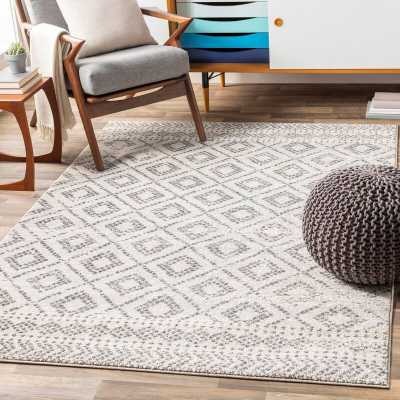 "Woodrum Southwestern Light Gray/White Area Rug, Rectangle 7'10"" x 10'3"" - Wayfair"