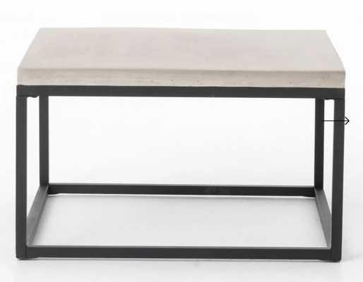 Maximus Square Coffee Table in Natural Concrete - Burke Decor
