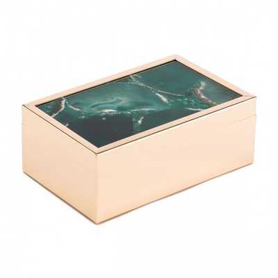 Green Stone Box Sm Green - Zuri Studios