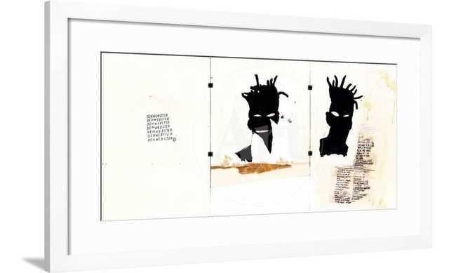 "Self-portrait by Jean-Michel Basquiat 36"" x 24"" - art.com"